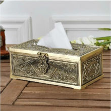 European antique napkin holder, carved metal tissue boxes, tissue boxes pumping paper style home decoration ZJH010 vietnam autumn rattan tissue box creative living room pumping paper rattan straw tissue boxes bamboo simple tissue boxes a4530