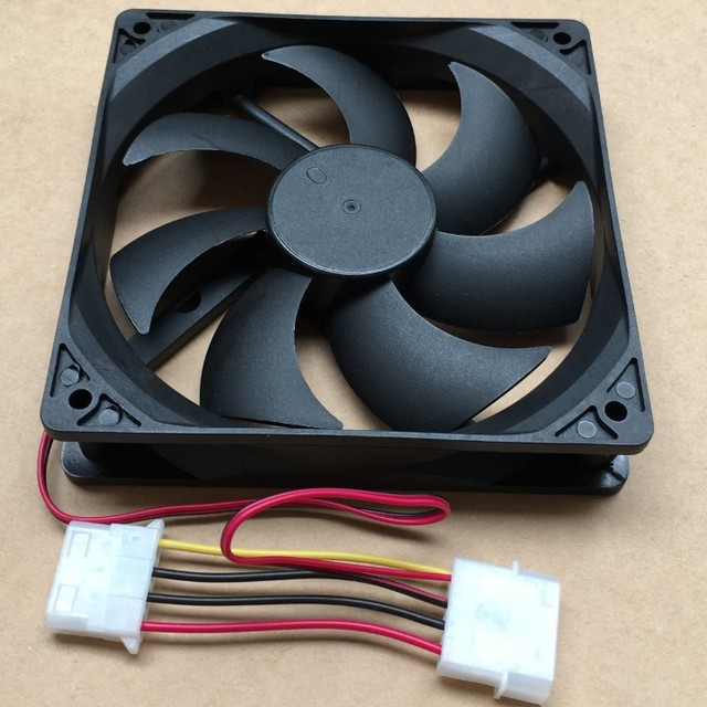US $6 19 9% OFF|120 240 360 water cooled installed fan 12cm chassis power  supply cooling fan mute connect D port Big 4P 120x120x25mm 12V fan-in Fans  &