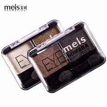 MEIS Brand Shimmer Eye Shadow New Arrival Charming Eyeshadow 2 Color Palette Make up Pigmented MS0266