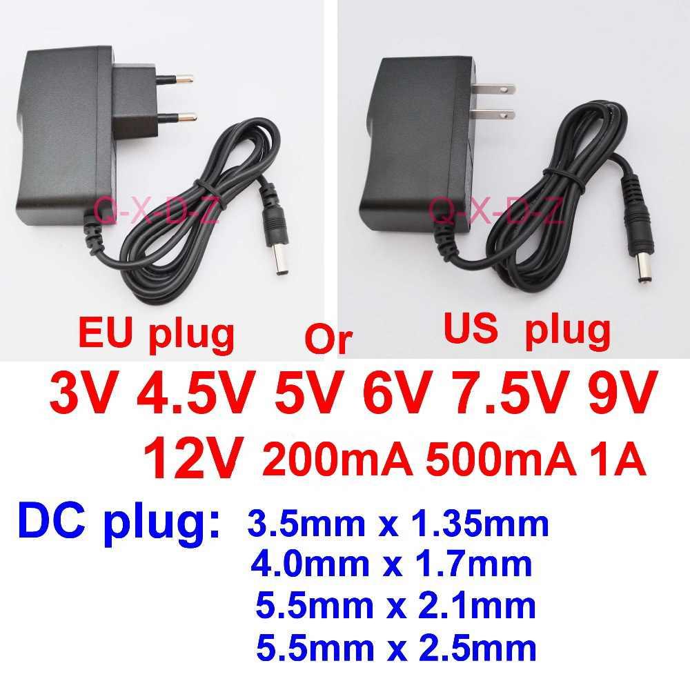 1 sztuk AC110-240V DC 3V 4.5V 5V 6V 7.5V 9V 12V 200mA 500 mA 1A LED listwa oświetleniowa Universa adapter AC/konwerter DC zasilacz
