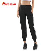 roegadyn black Jogging women Pants Running Pants Sport Soft Bodybuilding Joggers Gym Trousers Running Tights