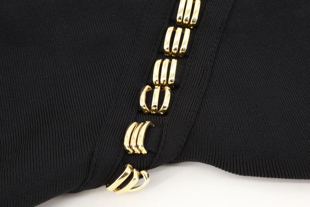 Unique Noir Cocktail Robe Parti Élégantes Robes Bandage Deaign Femmes Top Longueur Moulante Soirée Qualité Genou q4wPFZ