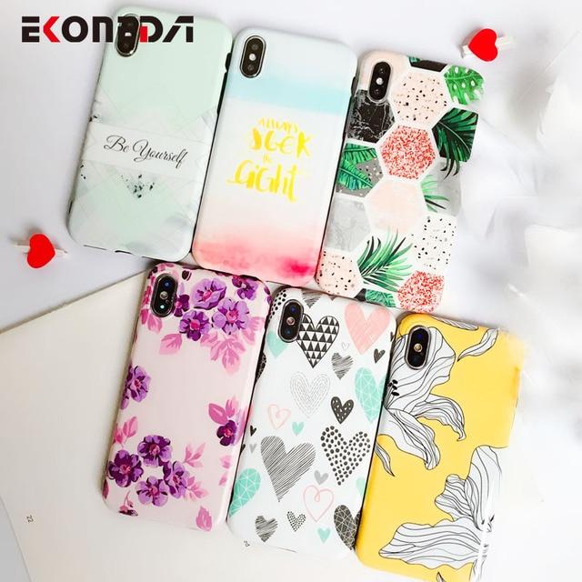 EKONEDA Matte TPU Case Voor iPhone 7 Plus Case Siliconen Flamingo Voor Coque iPhone 6 S Case funda Voor iPhone 6 S Plus 8X7 XS Max