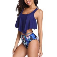 Ruffle Floral Printed Swim suit