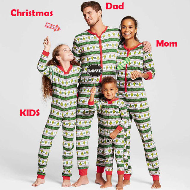 taglia 40 5fbc7 c2625 US $5.7 12% di SCONTO|Natale Natale Bambini Adulti Famiglia Pigiami  Pigiameria Set Da Notte Costume Pigiama in Natale Natale Bambini Adulti  Famiglia ...