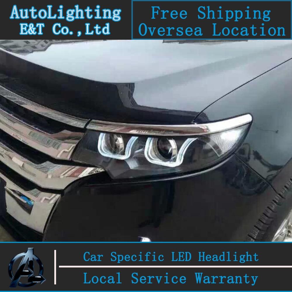 Aliexpress com buy car styling led head lamp for ford edge headlights 2013 2014 edge led headlight drl projector headlight h7 hid bi xenon lens from