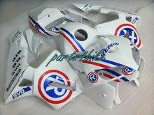 Высокое качество Инъекций пластиковые обтекатели для Honda CBR600RR 05 06 белый синий обтекателя комплект CBR 600RR 2005 2006 24MK