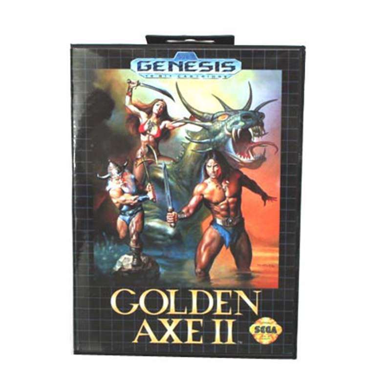 Golden Axe II Boxed Version 16bit MD Game Card For Sega Mega Drive And Genesis mickey mouse castle of illusion