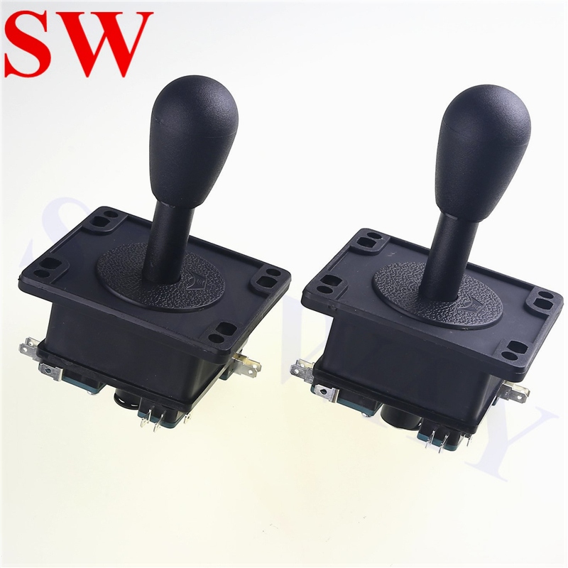 2PCS High Quality Arcade Jamma Competition Game Black Happ American Style Joystick With Microswitches 4Way/8Way Game Controller