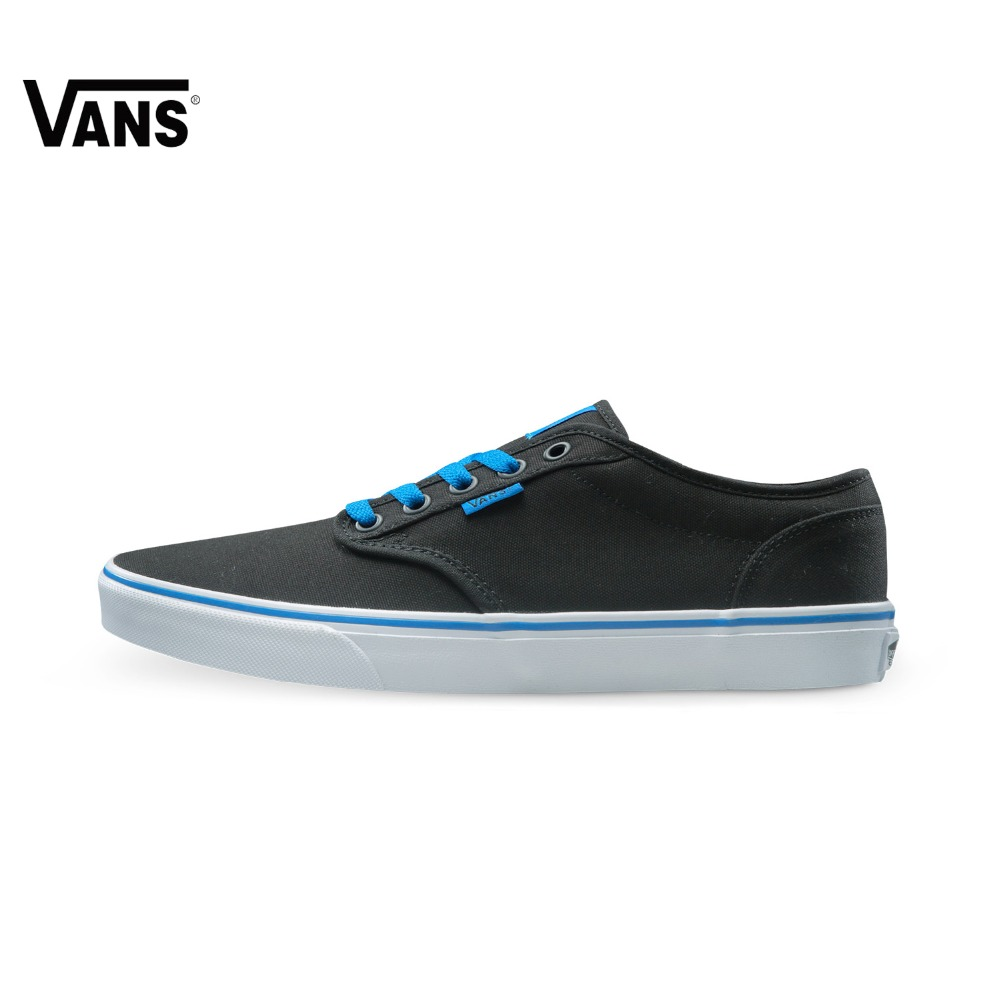 Original  Vans Black and Blue Gray and Red Color Low-Top Men's Skateboarding Shoes Sport Shoes Sneakers Comfortable original vans white color women skateboarding shoes sneakers beach shoes canvas shoes outdoor sports comfortable breathable
