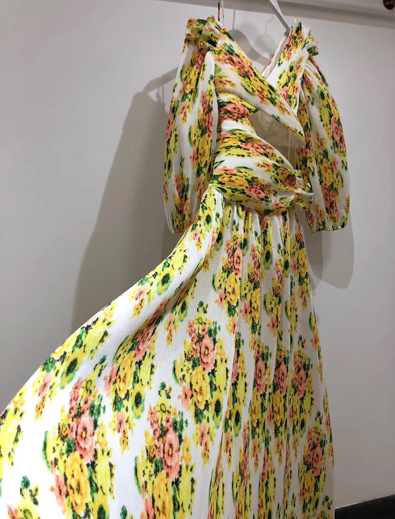 Robe Femmes Robes Manches Longues Encolure Dames Floral Élégant Automne Pour Imprimé Vacances Les Longue 2018 qg4qWrSa