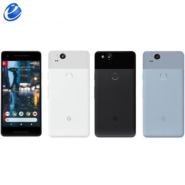 Original Unlocked Google Pixel 2 5.0'' inch Octa Core Single sim 4G LTE Android cellphone 4GB RAM 64GB 128GB ROM smartphone 1