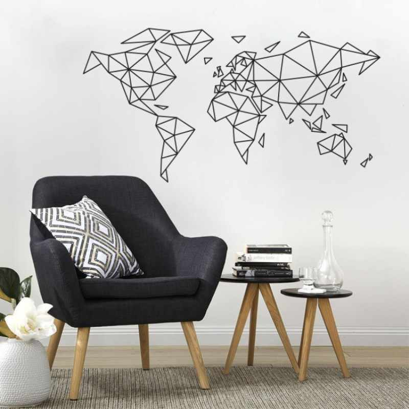 945a153d6e7 Art Wall Sticker Word Map Room Decortaion Map Of World Home Decor Poster  Beauty Mural Removeable