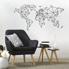Art  Wall Sticker Word Map Room Decortaion Map Of World Home Decor Poster Beauty Mural Removeable Decal Art Vinyl Poster LY69 все цены