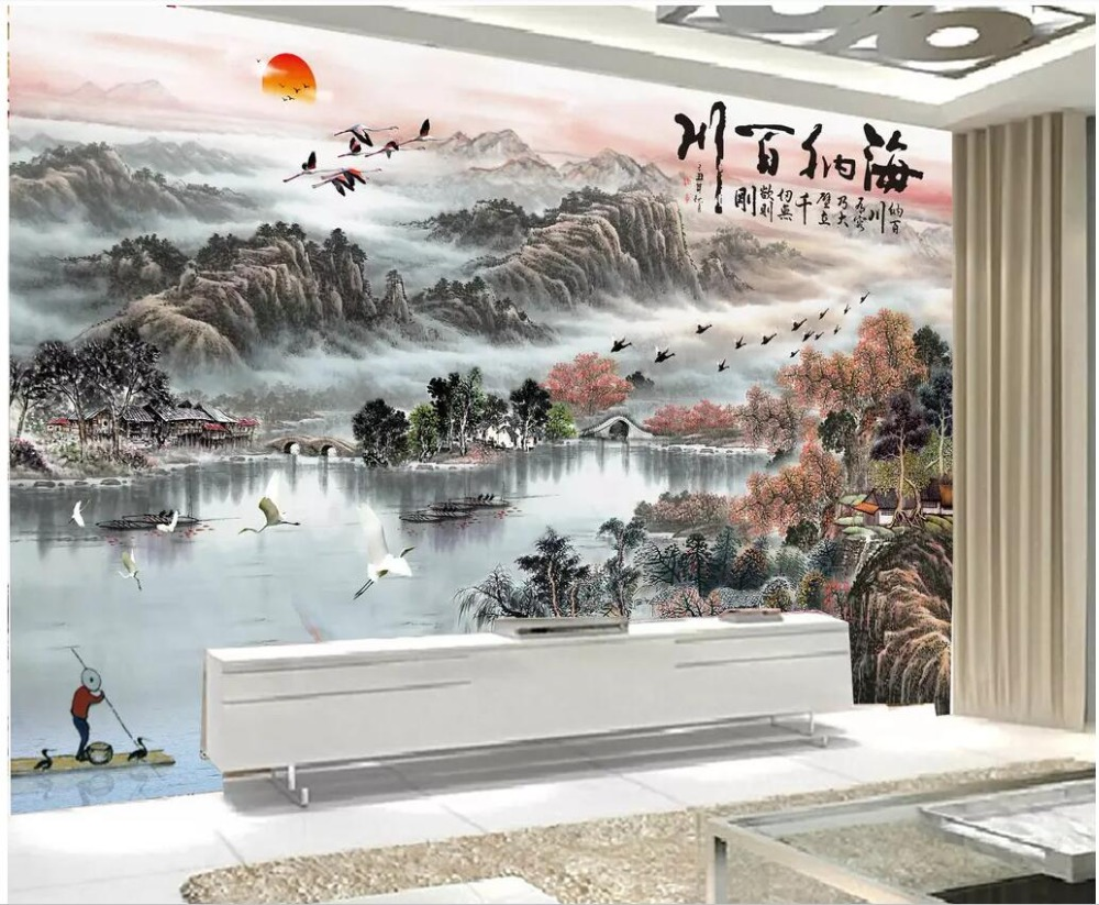 3d Photo Wallpaper Custom Mural Chinese Ink Painting