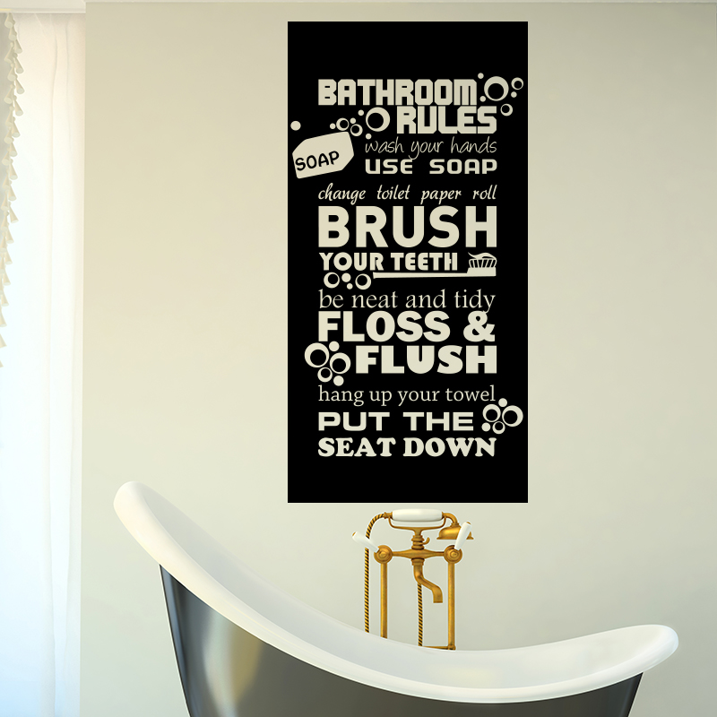 Rules For Kids Quote Wall Sticker