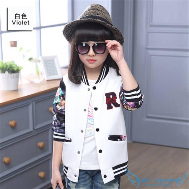 134412024 Online Shop Big Girls Bomber Jacket Coat 2018 Spring Autumn Toddler ...
