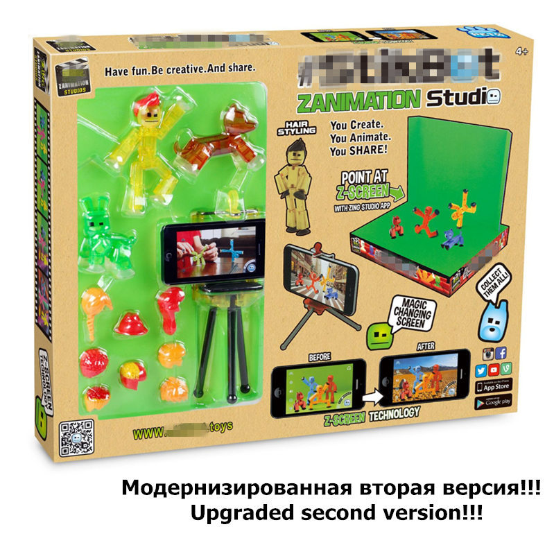 Stikbot Toy Sucker DIY Sticky Robot Anima Z Screen