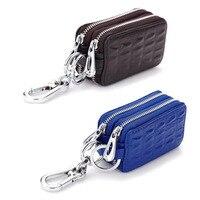 Crocodile Pattern Leather Key Case Leather Men S Car Key Bag Can Be Customized Double Zipper