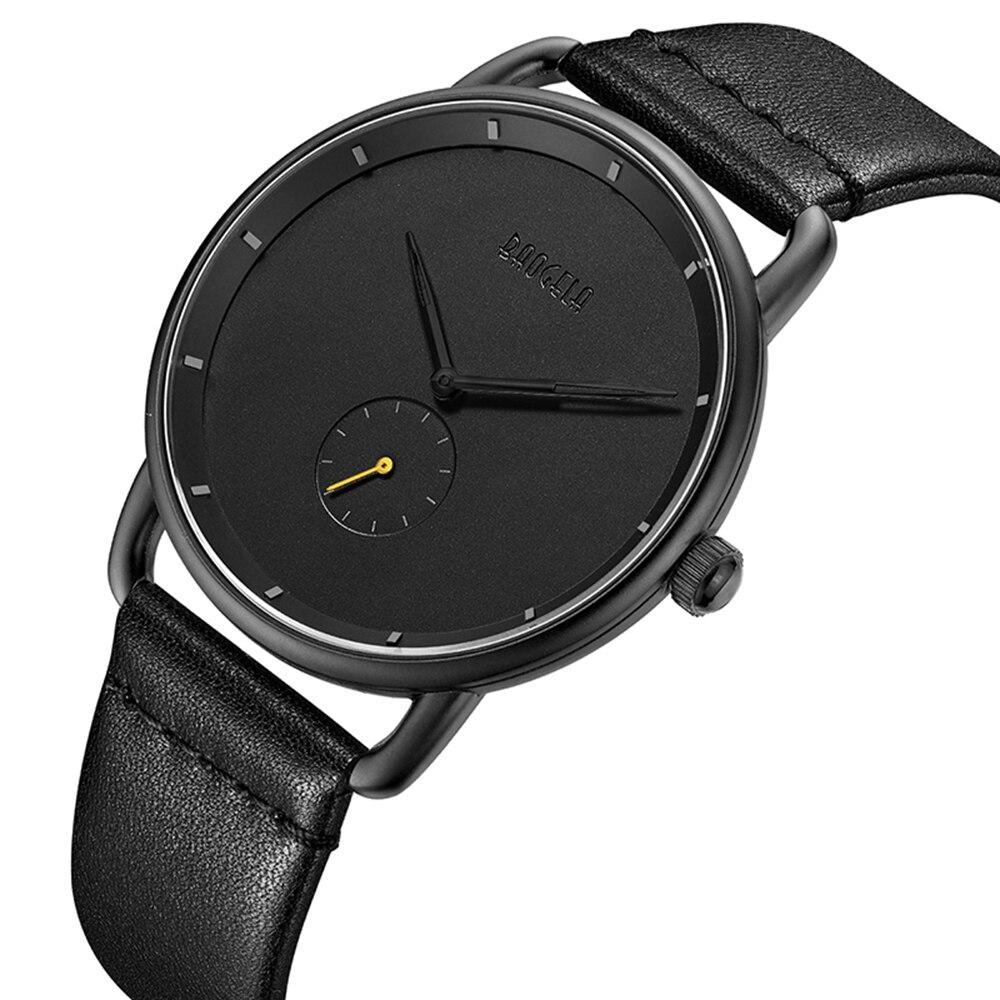 Marke Neue männer Quarz Analog Uhren Mode Lässig Einfache Leder Minimalismus Ultra Dünne armbanduhr Mann Relogios Masculinos