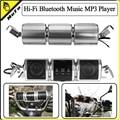 Últimas Impermeable Motocicleta Sistema de Audio Bluetooth Hi-Fi Reproductor de Música MP3 soporta Tarjetas USB/TF/AUX/FM Radio