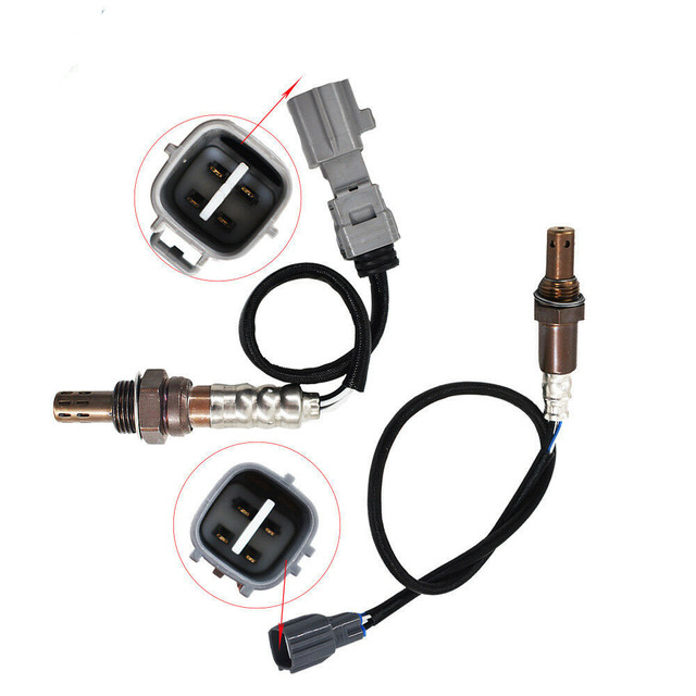 2pcs אוויר דלק חמצן יחס O2 חיישן עליון & תחת מתאים 05 2010 Scion tC 2.4L חמצן חיישן