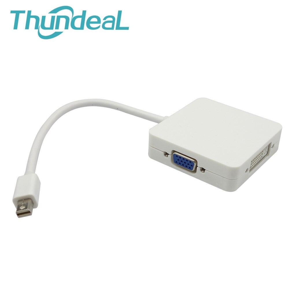 3 в 1 MINI DP Thunderbolt Дисплей Порты и разъёмы к VGA, HDMI, Dvi Дисплей Порты и разъёмы Кабель-адаптер для Apple MacBook Pro AIR Мини IMac монитор тв