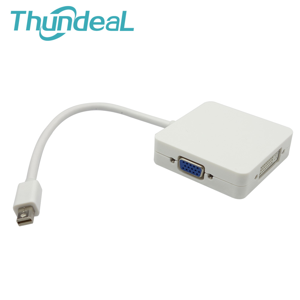 3 In 1 Mini Dp Thunderbolt Displayport To Hdmi Dvi Vga