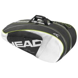 Cabeça saco de tênis mochila raquete sacos de desporto para 6-9 racquete djokovic bolsa bolsa de transporte masculino feminino acessórios