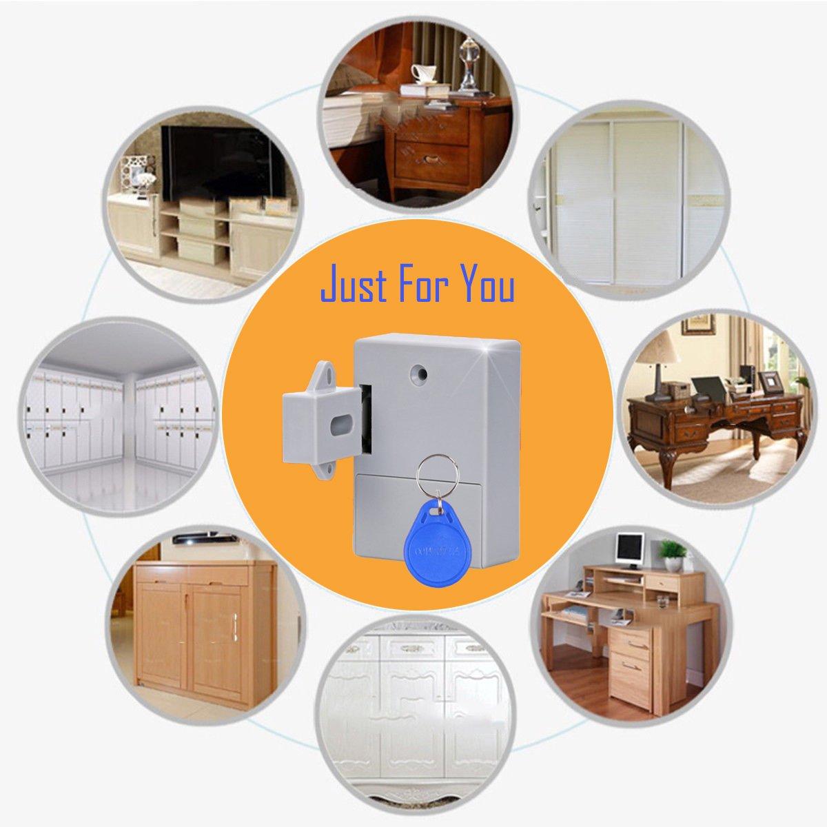 cheapest SHGO-Invisible Hidden RFID Free Opening Intelligent Sensor Cabinet Lock Locker Wardrobe Shoe Cabinet Drawer Door Lock