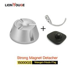 EAS الصلب بطاقة مزيل سوبر المغناطيسي eas شارة التنبيه detacher 15000GS 1 المغناطيس + 1 هوك + 1tag