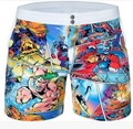 2016 New arrival! super fun comic printing beachwear,summer Shorts,men fashion swimwear men shorts