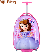Anime Girl Luggage Child Rolling Suitcase Cartoon 16 Inch Students Travel Trolley Case Children Boarding Box.travel Luggageset fashion luggage inches girl trolley case pp students lovely travel waterproof luggage rolling suitcase extension boarding