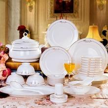 [England style] joy Jingdezhen pottery bowl dish head 56 head bone china tableware set