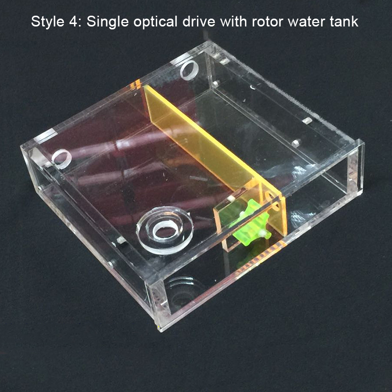 Image 4 - Transparent Acrylic Computer Water Cooler Water Tank Radiator Water Block Temperature Wheel CD ROM Single Drive Water Tank-in Fans & Cooling from Computer & Office