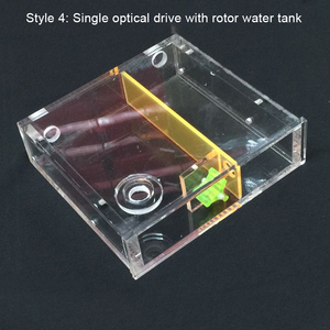 Image 4 - 透明アクリルコンピュータ水クーラー水タンクラジエーター水ブロック温度ホイールcd romシングルドライブ水槽