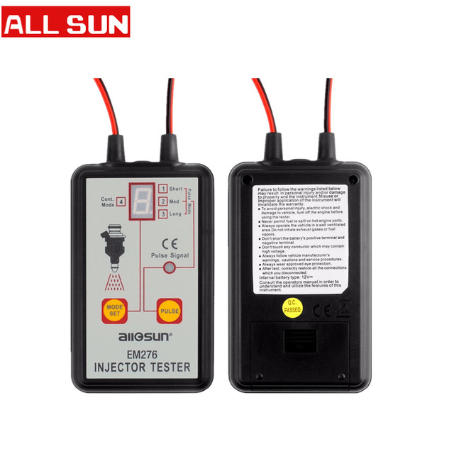 ALL SUN EM276 Professional Injector Tester Fuel Injector 4 Pluse Modes Tester Powerful Fuel System Scan Tool EM276