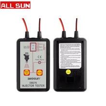 Tüm güneş EM276 profesyonel enjektör test cihazı yakıt enjektörü 4 Pluse modları test cihazı güçlü yakıt sistemi tarama aracı EM276