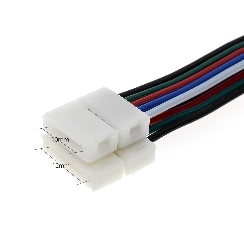 RGBW LED connecteur de bande 5Pin 12mm/10mm connecteur de soudage gratuit 5 pcs/lot