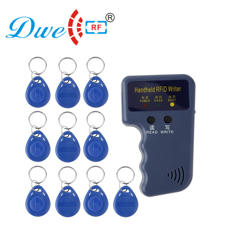 DWE CC RF control card readers 125khz rf id card reader writer rfid copier key duplicator cloner with 10 EM4305 tags free