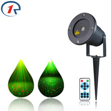 ZjRight IR Remote Outdoor courtyard RG Laser Stage light IP65 Projector sky star Xmas tree Decorative lights Holiday party light