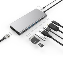 USB HUB Type C to HDMI 4K Ethernet Type C PD Charging Aux Thunderbolt 3 USB 3.0 HUB For MacBook Huawei P20 Pro цена и фото