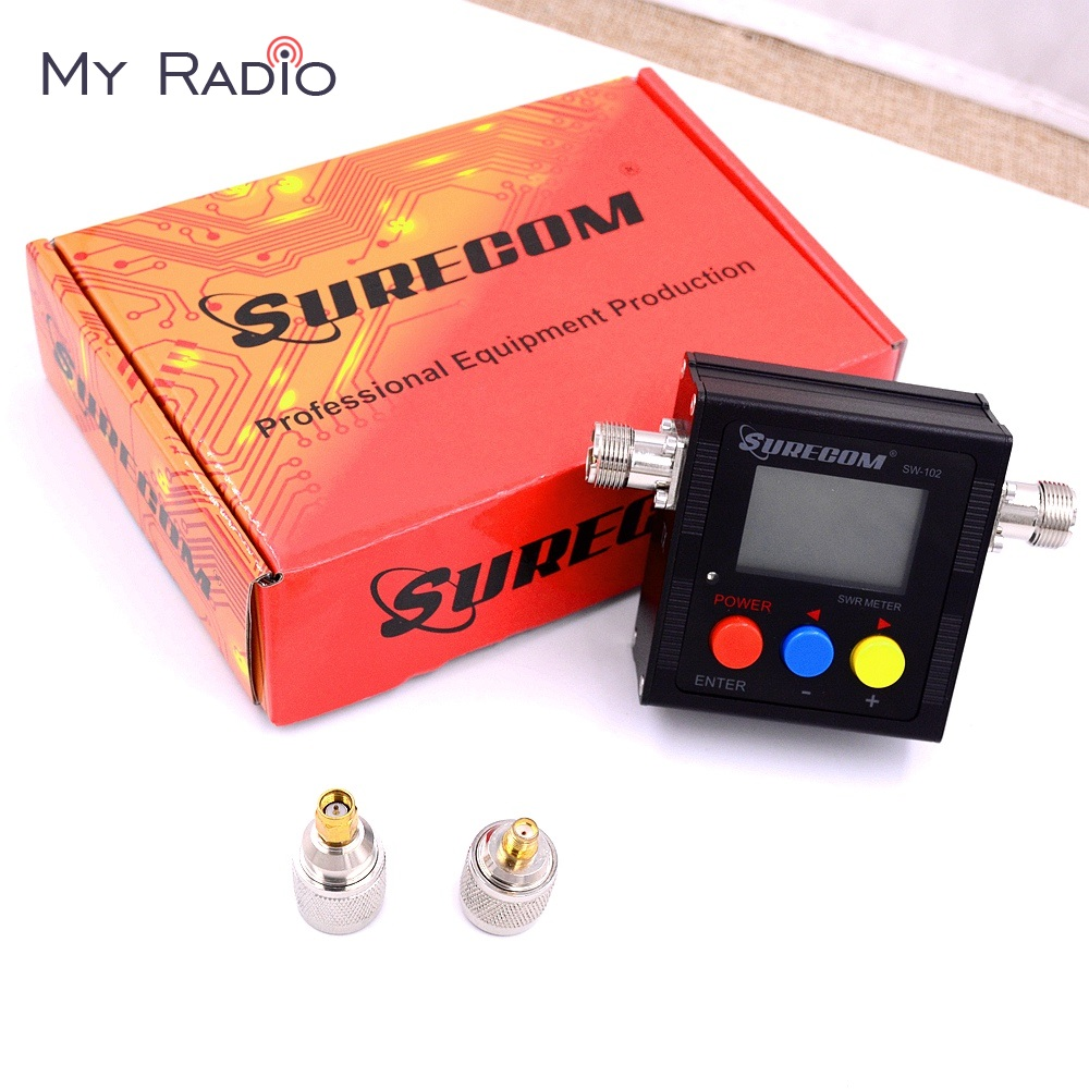 SURECOM SW-102 Digital Power & SWR & Frequency Counter for ham Radio Scanner SO239 Connector & 2 Connector adapter Tester MeterSURECOM SW-102 Digital Power & SWR & Frequency Counter for ham Radio Scanner SO239 Connector & 2 Connector adapter Tester Meter