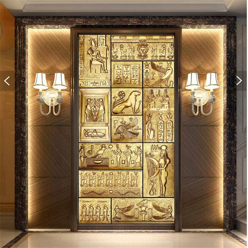 Good Beibehang 3d Art Backdrop Beauty Of Egyptian Art Ancient Culture Covering Home  Decor Modern Wall Painting For Living Wallpaper In Wallpapers From Home ...