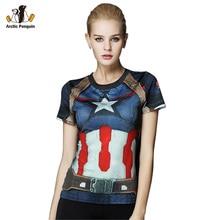 [AP] Marvel Heroes Майка Женщины Футболку Мода Caption Америку 3D Печати Avenger Сжатия Рубашки Топы Супермен Рубашки Колготки