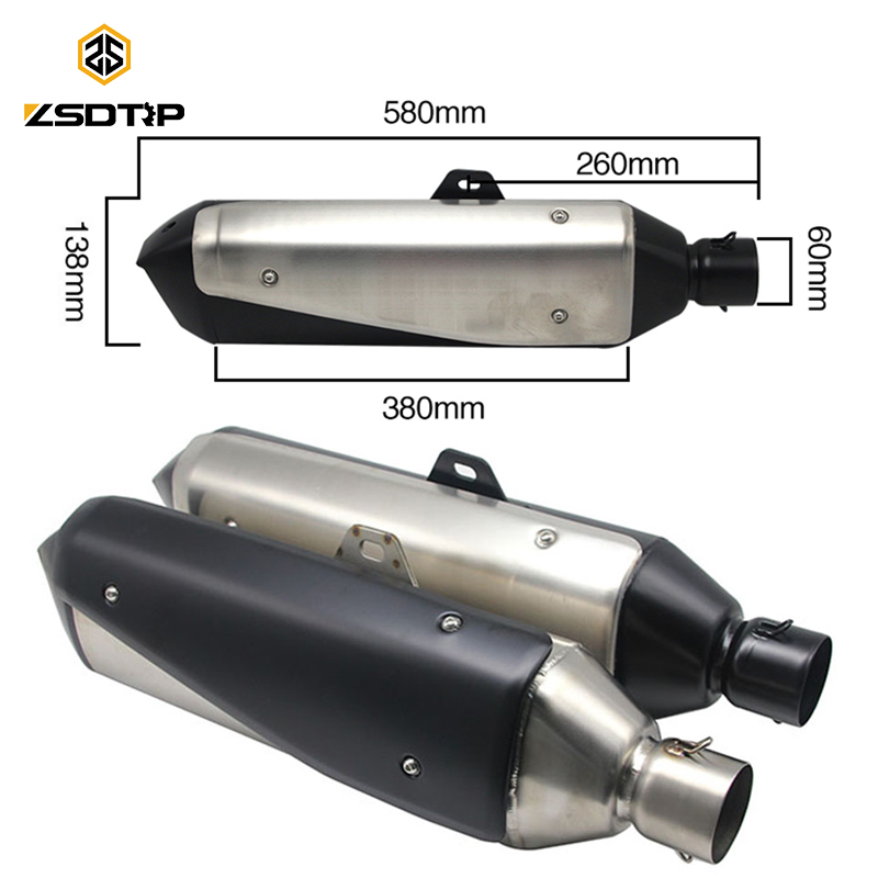 ZSDTRP For BMW G310GS S1000XR Motorcycle Exhaust Pipe Muffler NC750X/CBF1000/TRK502 Exhaust tubo escape moto escapamento de moto mokali tubo escape moto universal refires cb400 cbr29 motorcycle modified exhaust end to end exhaust pipe escapamento motocross