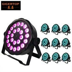 LED W pełnym kolorze płaski Par światła 10XLOT RGB nowy 24x3 W 3in1 Slim reflektory Par LED 110 V 240 V Guangzhou oświetlenie sceniczne w Oświetlenie sceniczne od Lampy i oświetlenie na