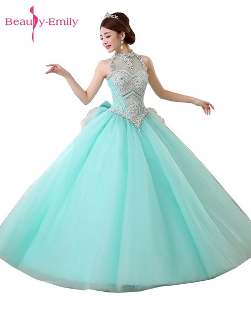 Beauty Emily Long Ball Gown Red Prom Dresses 2017 Homcoming Dresses ...