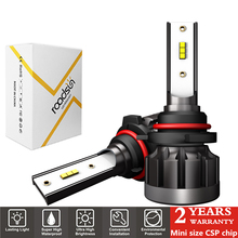 2Pcs Super Bright H4 H7 LED Mini Size Car Lights H1 H11 HB3 HB4 9005 9006 Headlight Bulb 12000LM 72W 6000K Auto Headlamp