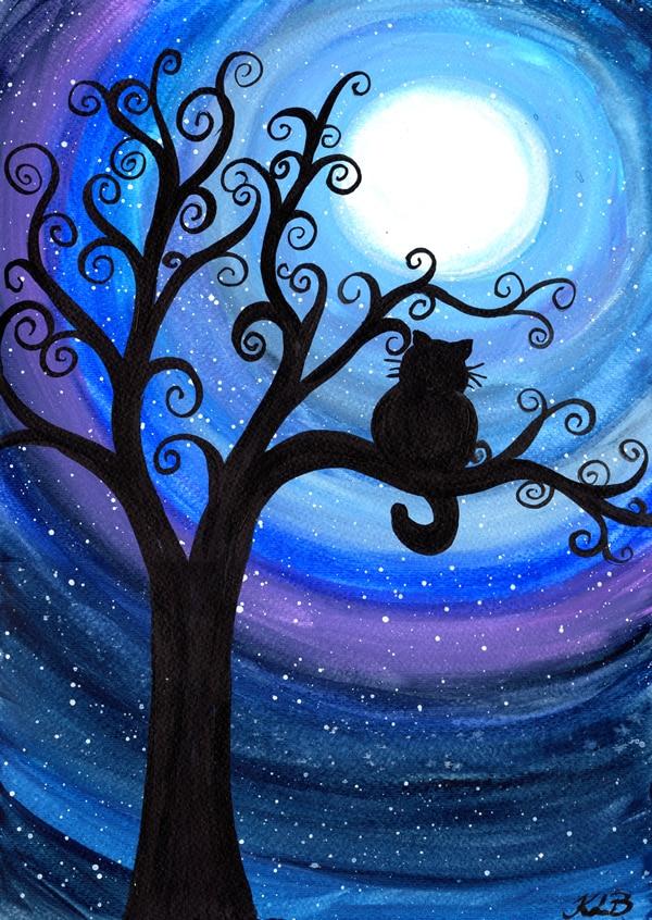 Needlework Diamond embroidery painting cat on the tree cross stitch scenic diy diamond painting kits childrens birthday gifts